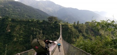 Suspension bridge at Kurga and Phalewas